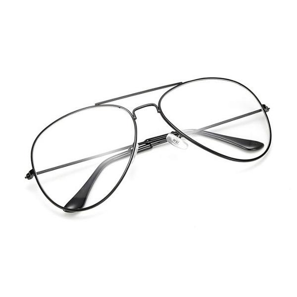 """Čierne číre okuliare pilotky """"Aviator"""""""