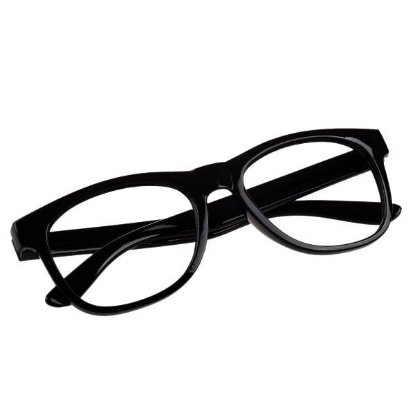Čierne číre detské okuliare Wayfarer