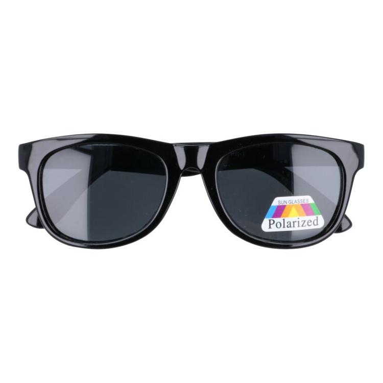 Čierne detské polarizačné okuliare Wayfarer