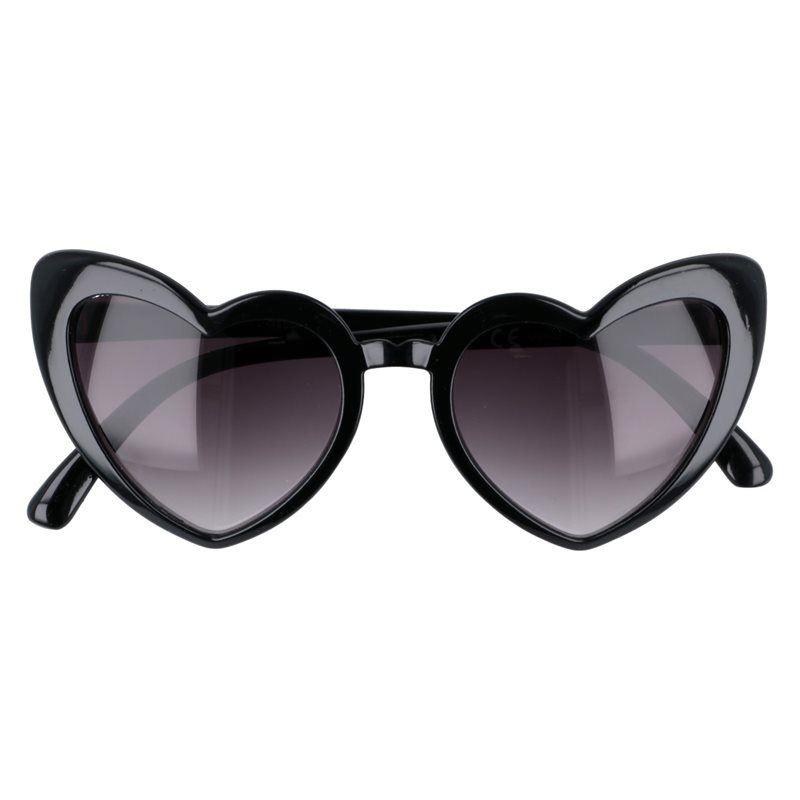"Čierne dámske srdiečkové okuliare ""Heart"""
