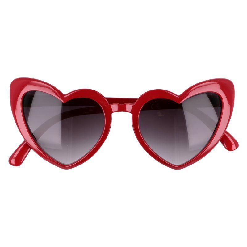"""Červené dámske srdiečkové okuliare """"Heart"""""""