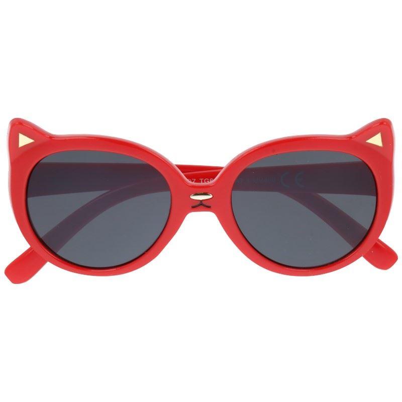 "Červené detské slnečné okuliare ""Kitty"""