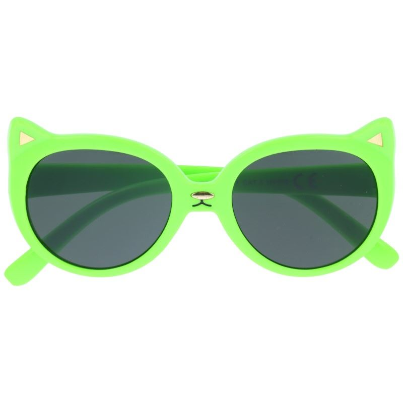 """Zelené detské slnečné okuliare """"Kitty"""""""
