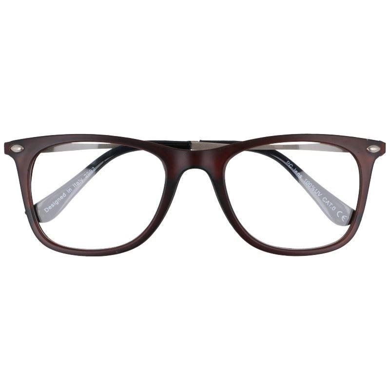 """Hnedé štýlové číre okuliare """"Savage"""""""