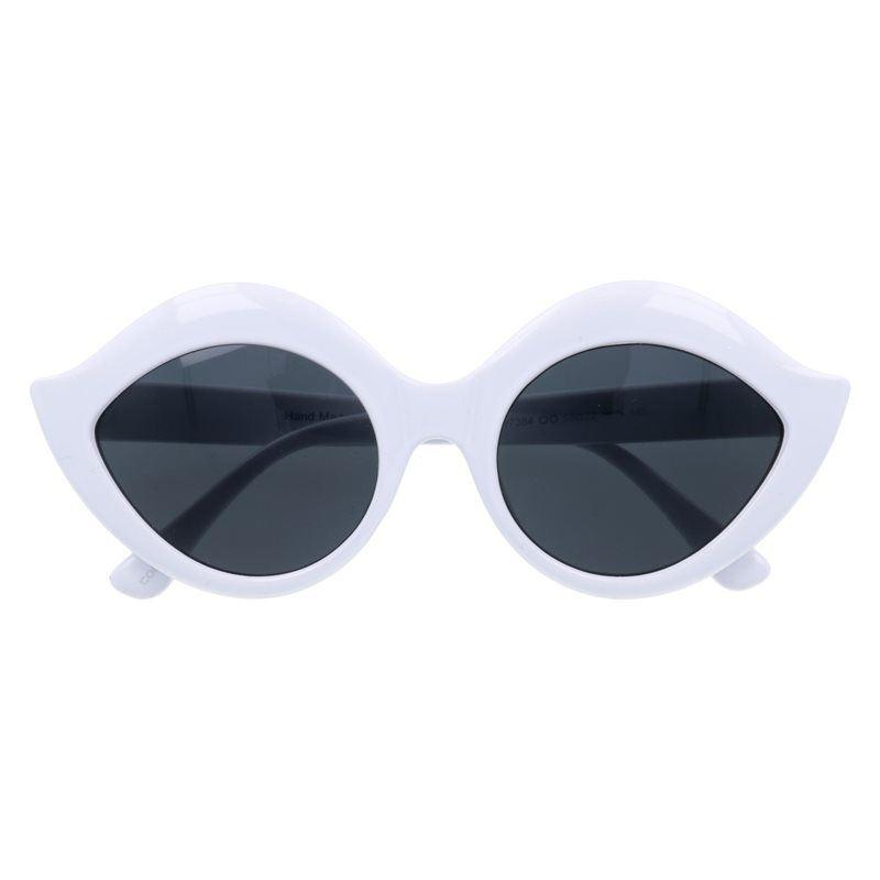 "Biele masívne mačacie okuliare ""Meow"""