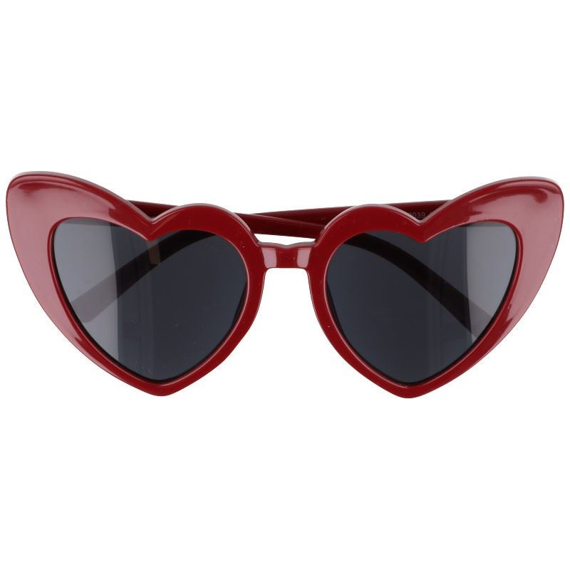 "Tmavočervené dámske srdiečkové okuliare ""Heart"""