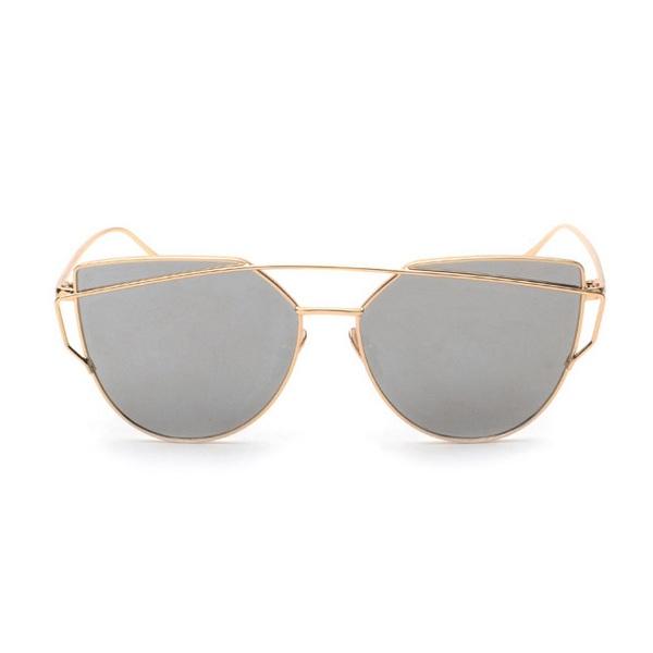 27a827326 Zlato-strieborné dámske zrkadlové okuliare