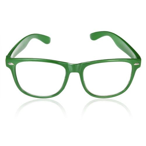 Zelené číre okuliare wayfarer a79d26bbc5e
