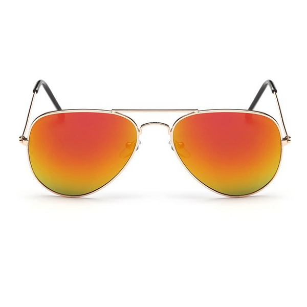 60b7cd218 Oranžové zrkadlové slnečné okuliare pilotky | Letnyhit.sk