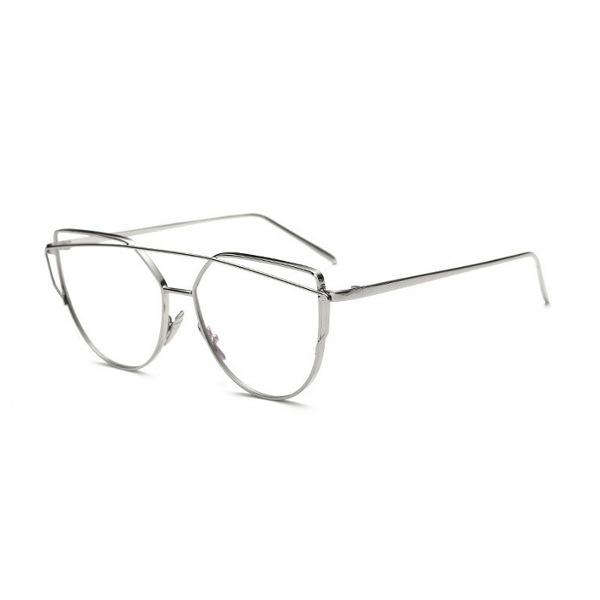 Strieborné číre dámske okuliare
