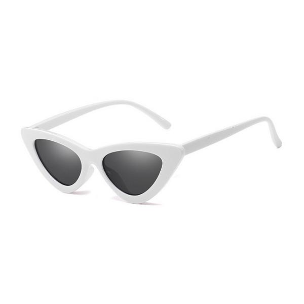 Biele dámske slnečné okuliare