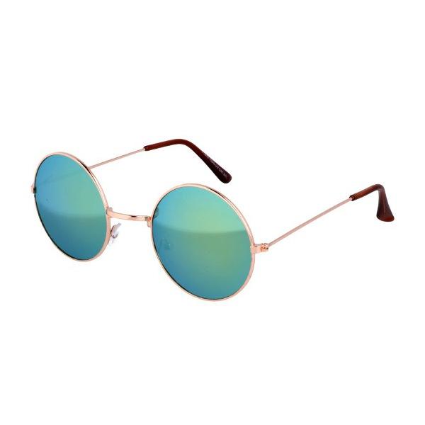 Zelené okuliare lenonky so zrkadlovými sklami  2fc77db007b