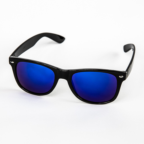 f5bbf415a Čierne zrkadlové okuliare Wayfarer s modrými sklami | Letnyhit.sk