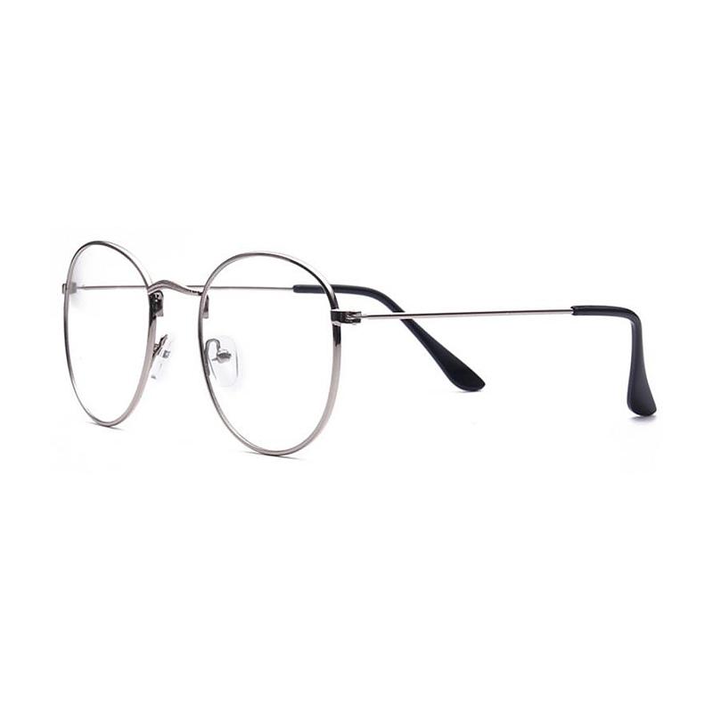 Strieborné imidžové číre okuliare