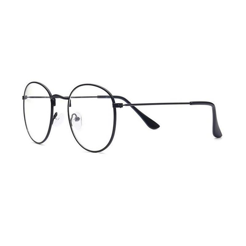 Čierne imidžové číre okuliare