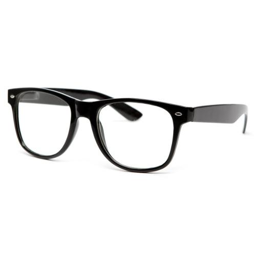 Čierne číre priesvitné okuliare wayfarer  8d82e303da2