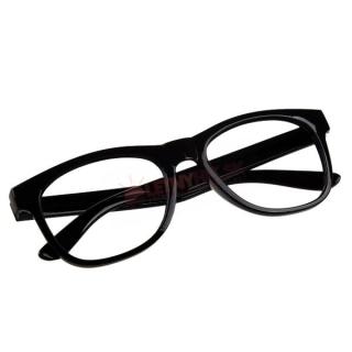 Čierne číre detské okuliare - bez sklíčok empty 44ddb70995b