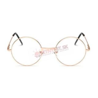 Číre zlaté okuliare lenonky empty e40c32ca2d9