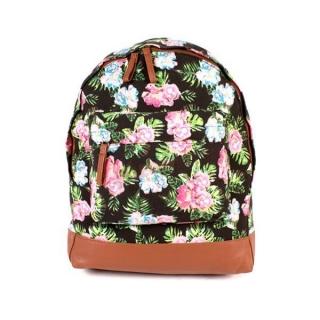 95ef66592a Farebný kvetovaný vintage ruksak