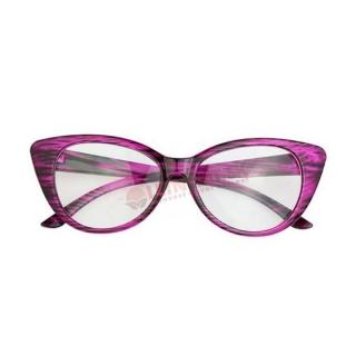 Fialovo-čierne číre mačacie okuliare
