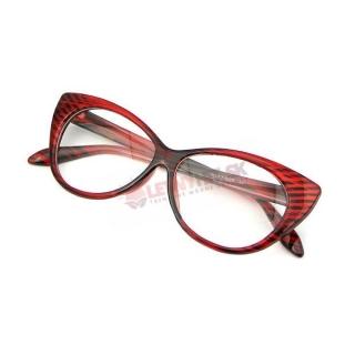 Červeno-čierne číre mačacie okuliare