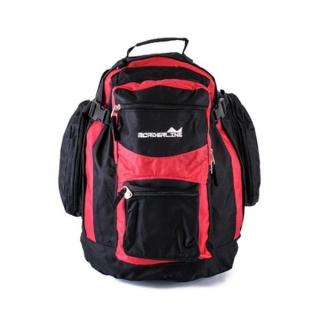 Červeno-čierny športový batoh