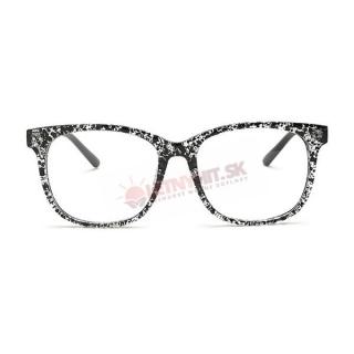 Prémiové čierno-biele číre okuliare wayfarer empty f6edf524214