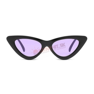 Čierne dámske okuliare s fialovými sklami