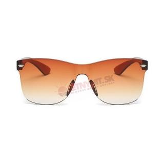 Hnedé dámske okuliare bez rámu