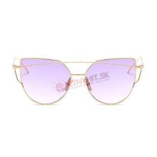 Dvojfarebné fialové dámske okuliare