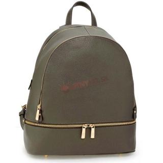 f1b58ff127 Sivý kožený ruksak