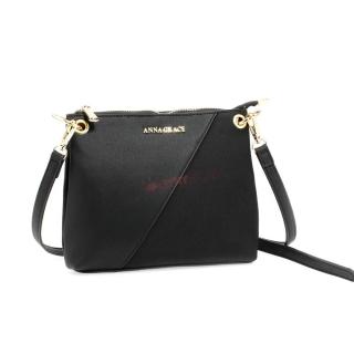 Čierna crossbody kabelka s kovovým prvkom
