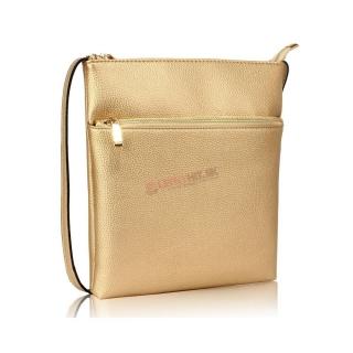 a503dc69fb Zlatá crossbody kabelka s predným vreckom