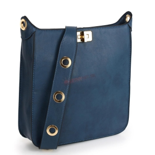 158d92c53f25 Modrá zdobená crossbody kabelka