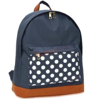 a8af26b708 Modrý batoh do školy s bodkami