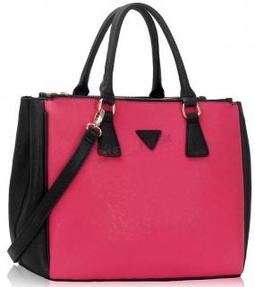 21569dcac4 Čierno-ružová shopper kabelka