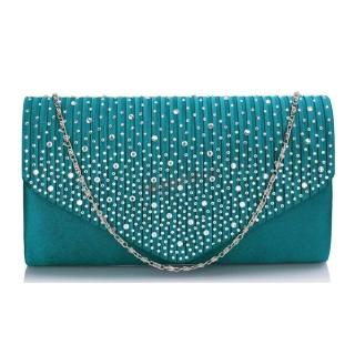 Zelená kabelka s kamienkami
