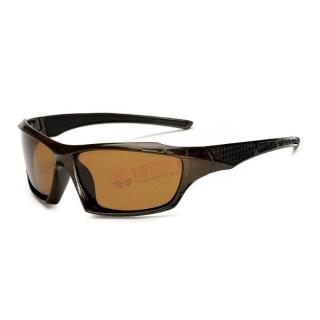 Hnedé polarizačné okuliare pre vodičov
