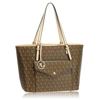 a045c584e4 Hnedá luxusná kabelka na rameno