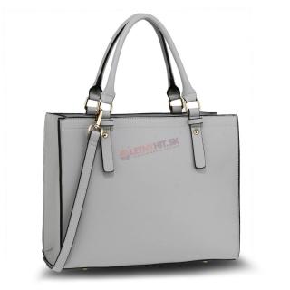 Sivá luxusná kabelka