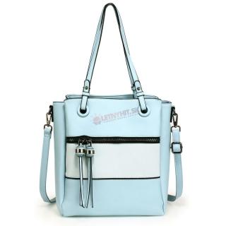 bab0d5b1bf17 Modrá kabelka na rameno s 2 príveskami