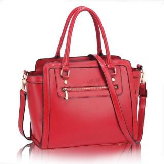 76574bc1ae Ružová lakovaná kabelka na rameno