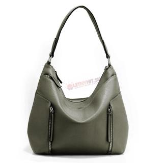 Sivá praktická kabelka s vreckami