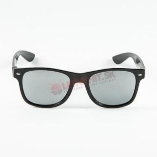 Zrkadlové čierne okuliare wayfarer empty 524f89c6382
