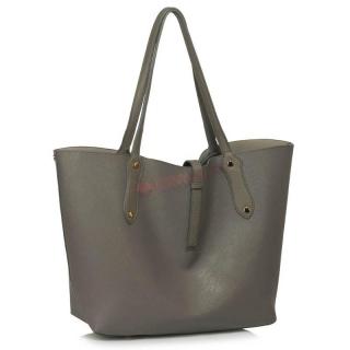 Sivá objemná kabelka
