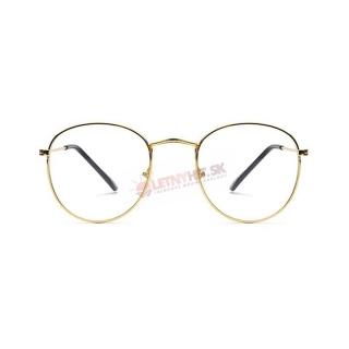 Zlaté imidžové číre okuliare