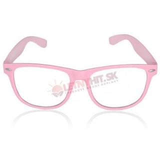Ružové číre detské okuliare - bez sklíčok empty d975ea7ee33