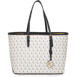 70d3cafa6d Čierno-biela luxusná shopper kabelka na rameno