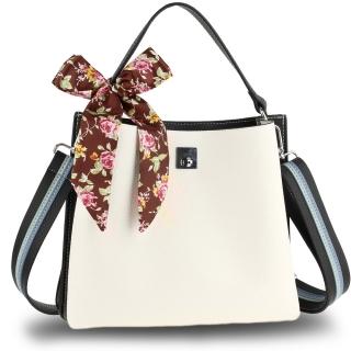 f29d1832a Čierno-biela kvetinová kabelka na rameno