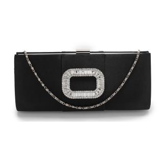 a0cf8b2f1d Čierna spoločenská kabelka s brošňou
